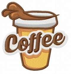 Hot coffee 4 embroidery design