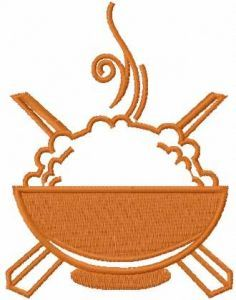 Hot rice plate 2 embroidery design