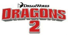 How to train your dragon 2 logo embroidery design