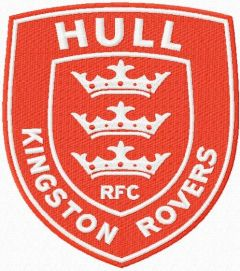 Hull Kingston Rovers machine embroidery design
