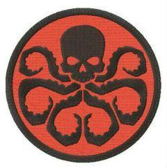 Hydra logo embroidery design