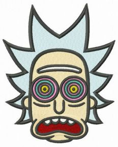 Hypnotic Rick embroidery design