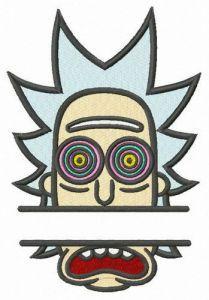 Hypnotic Rick monogram embroidery design