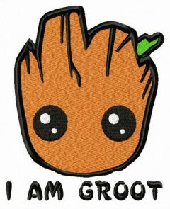 I am Groot embroidery design