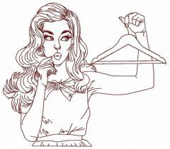 I have nothing to wear 2 embroidery design
