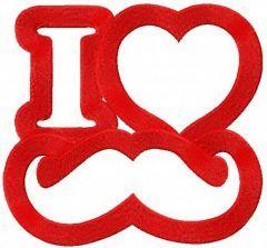 I love mustache 2 machine embroidery design