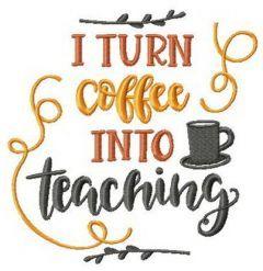 I turn coffee into teaching embroidery design