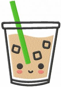Ice coffee free embroidery design