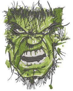 Incredible Hulk art embroidery design