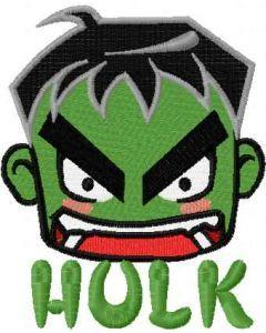 Incredible Hulk chibi 3 embroidery design