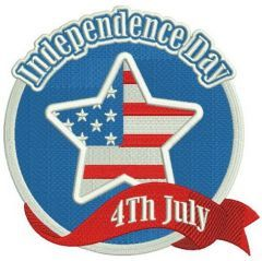 Independence day embroidery design