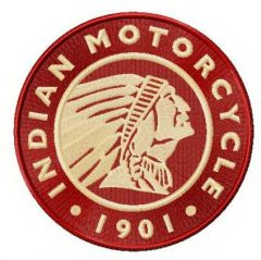 Indian Motocycle Manufacturing Company logo embroidery design