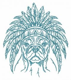 Indian warrior's dog embroidery design
