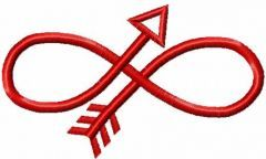 Infinity arrow embroidery design