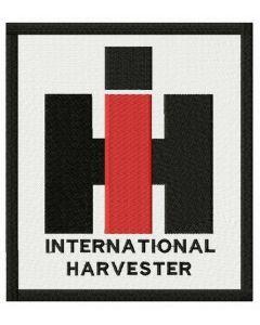 International Harvester logo embroidery design