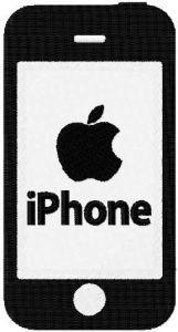 Apple iPhone machine embroidery design