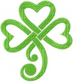 Irish clover 3 embroidery design