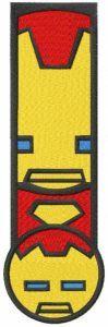 Iron man chibi bookmark embroidery design