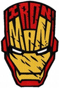 Iron Maan mask embroidery design