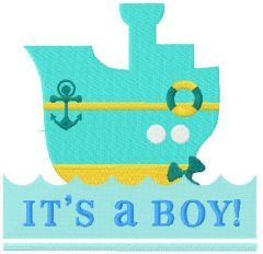 It;s a boy! machine embroidery design