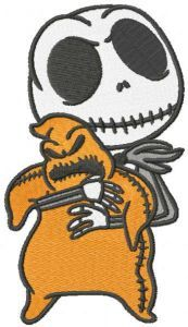 Jack lock shock barrel embroidery design