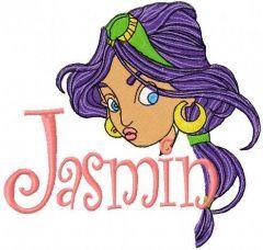 Jasmine Princess embroidery design