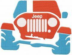 Jeep trip embroidery design