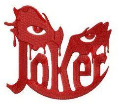 Joker's eyes embroidery design