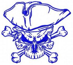 Jolly Roger 3 embroidery design
