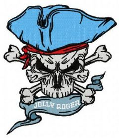 Jolly Roger 4 embroidery design