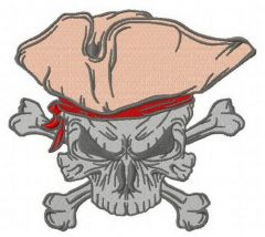Jolly Roger 5 embroidery design