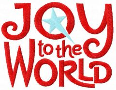 Joy to the world free embroidery design