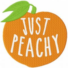 Just peachy free embroidery design