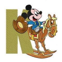Mickey Mouse Letter K embroidery design