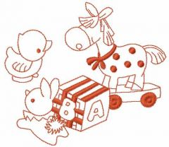 Kids toys embroidery design