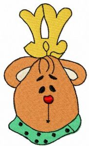 King bear with scarf embroidery design