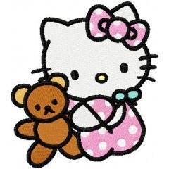 Hello Kitty with Toy embroidery design