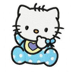 Hello Kitty Baby Bib embroidery design