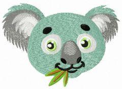 Koala muzzle embroidery design