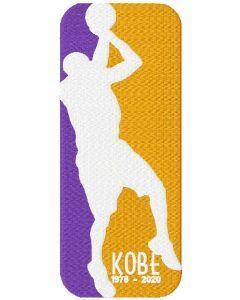Kobe Bryant legend embroidery design