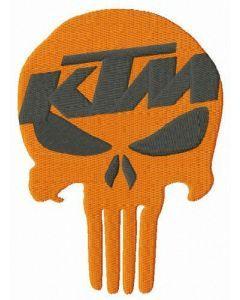 KTM Punisher embroidery design