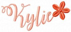 Kylie free embroidery design