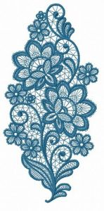 Lace flower embroidery design 13