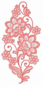 Lace flower embroidery design 14