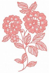 Lace flower embroidery design 2