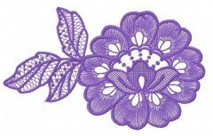 Lace flower embroidery design 3