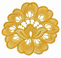 Lace flower embroidery design 5