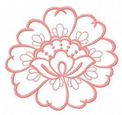 Lace flower 6 embroidery design