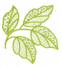 Lace leaves embroidery design