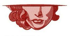 Lady's lips embroidery design